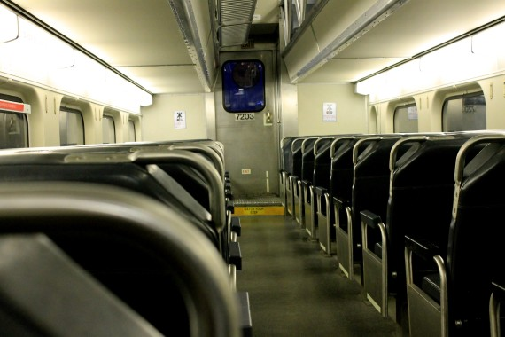 Day 101: Empty metra train at rush hour