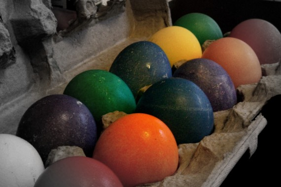 Day 89: Dyed Easter Eggs
